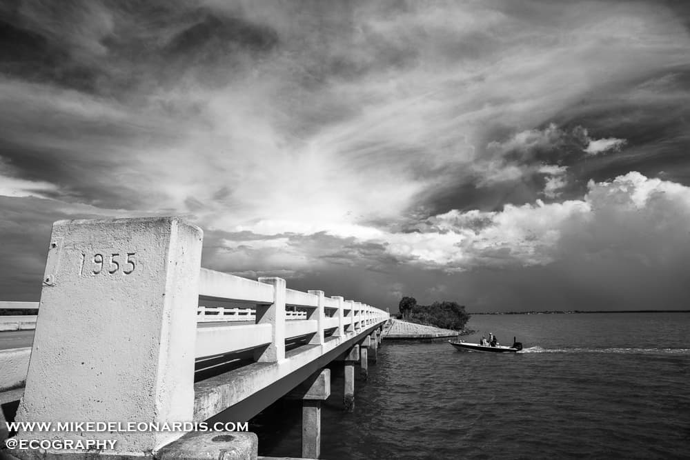 Bridge to Chokoloskee, Florida. This area sits just south of Everglades City in Southwest Florida.