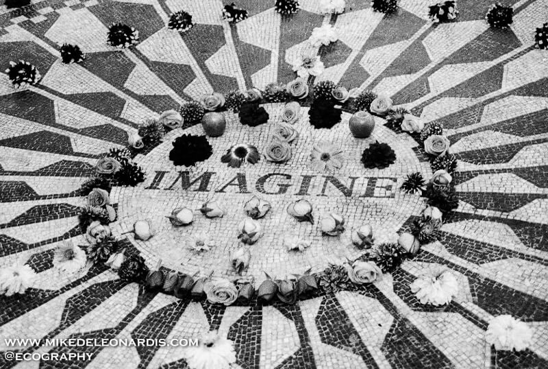 Strawberry Fields Memorial in Central Park, NY.